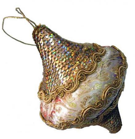 Украшение елочное ЛУКОВИЦА , 1 шт,10 см,в пакете,полимерный материал украшение елочное сердце зимние узоры 6 см 1 шт 1 шт в пакете пластик