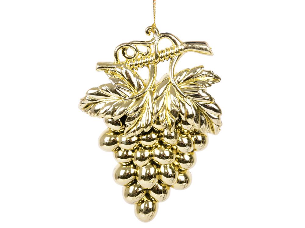 Украшение елочное Виноград, 10х8 см, золотой елочное украшение christmas house сердце