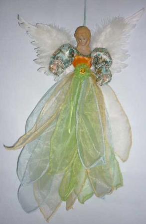 Украшение декоративное АНГЕЛ, 1 шт, 50 см, в пакете, полиэстер, оранжевое декоративное украшение ангел 28047