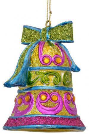 Украшение декоративное КОЛОКОЛЬЧИК, 7 см, полирезин, 1 шт.,в пакете украшение елочное колокольчик новый год 7 8 см полирезин 1 шт в пак