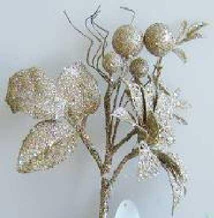 Украшение декоративное ВЕТКА, блестящая крошка, 1 шт. в прозрачном пакете, 35 см, 1 цв.|5 украшение декоративное снежинка блестящая крошка 1 шт в прозрачном пакете 27 см 6 цв