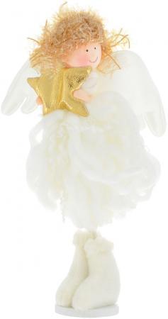 Украшение Winter Wings Ангел 19 см 1 шт белый полимер, полиэстер N180210 украшение winter wings мишка с шишками белый 17 см 1 шт полимер n069814