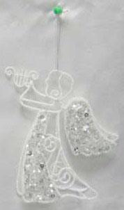 Украшение декоративное АНГЕЛ, 16 см, полимерный мат., металл, 1 шт.,в пакете цена и фото