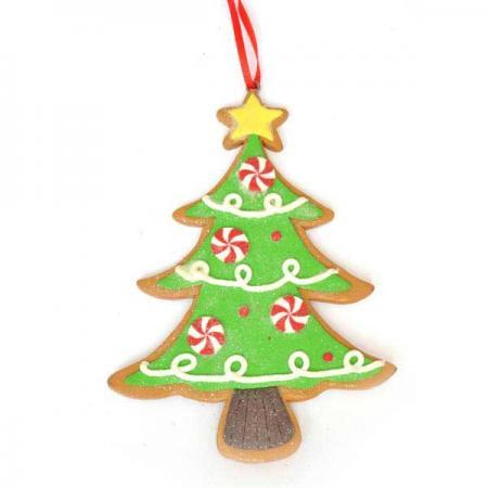 Украшение декоративное ПОДВЕСКА ЕЛКА, 9*12 см, полирезин, 1 шт в пакете подвеска winter wings веселая елка 7 6 см n163202