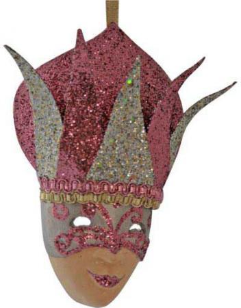 Украшение декоративное МАСКА, блестящая крошка, 13 см, 2 цв. украшение декоративное бант блестящая крошка 10см 4 цв
