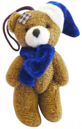 Украшение декоративное МИШКА В КАРНАВАЛЬНОЙ ШАПКЕ, 8,5 см, полиэстр фигурки игрушки maxitoys мишка в шапке mt 161147 30