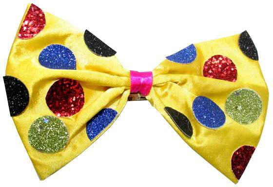 Украшение декоративное ГАЛСТУК БАБОЧКА, 8х14 желтое,полиэстр украшение на шею галстук бабочка 40 44