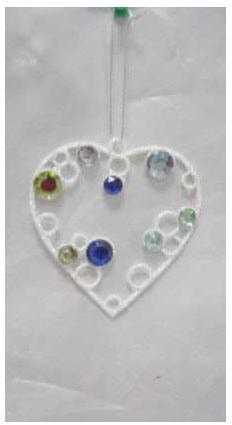 Украшение декоративное СЕРДЦЕ, 9 см, полимерный мат., металл, 1 шт.,в пакете украшение елочное сердце зимние узоры 6 см 1 шт 1 шт в пакете пластик