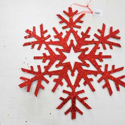 Украшение декоративное СНЕЖИНКА, 1 шт, 46 см, 6 цветов, в пакете, бумага украшение декоративное снежинка блестящая крошка 1 шт в прозрачном пакете 27 см 6 цв