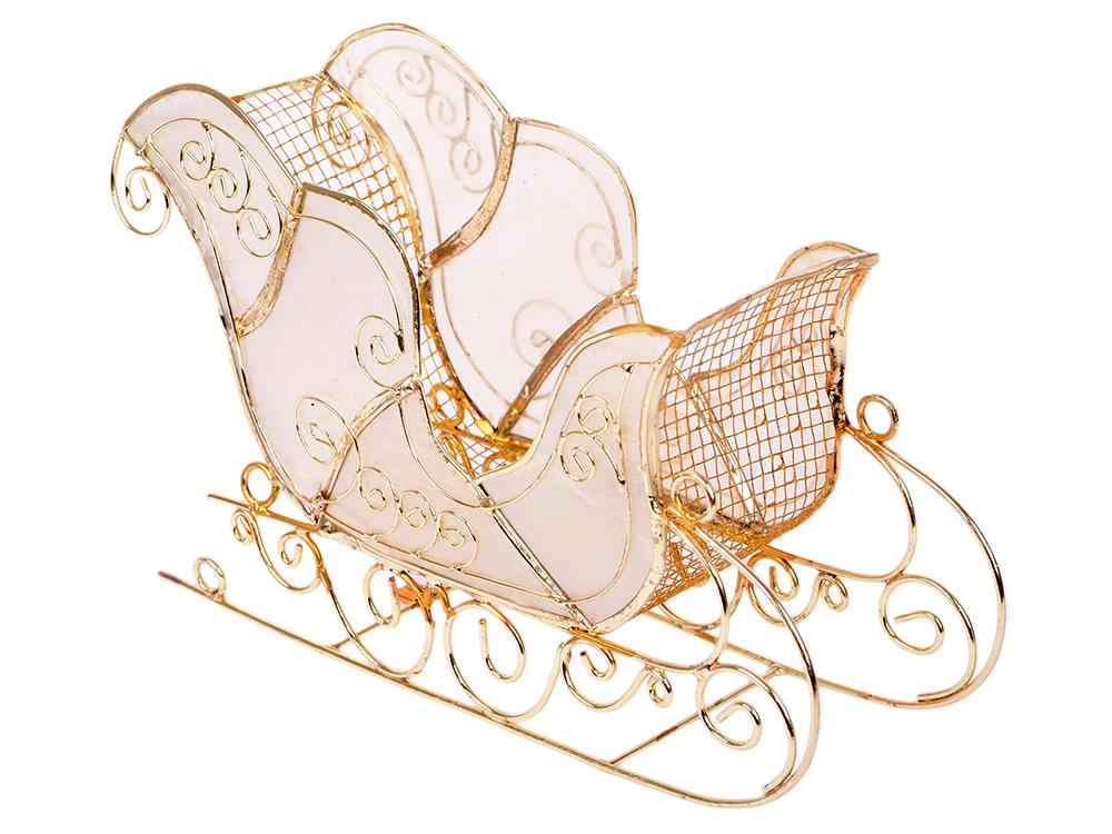 Украшение декоративное САНИ, перламутр, металл, 1 шт, 18*11 см, в карт кор украшение елочное ангелочек перламутр металл 8 см 4 вида 1 шт в карт кор