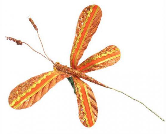 Украшение декоративное СТРЕКОЗА, см,полиэстр, 6 цветов декоративное украшение стрекоза 9 см