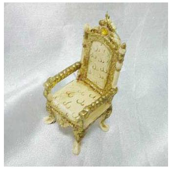 Украшение декоративное трон, 10 см, полирезин, 1 шт.,в пакете