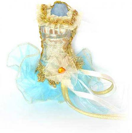 Украшение декоративное, ПАЧКА, голубая, 15 см, пластик, полиэстр, 1 шт в пакете украшение декоративное туфелька фиолетовый 13 см пластик полиэстр 1 шт в пакете
