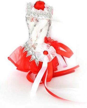 Украшение декоративное, ПАЧКА, красно-белая, 15 см, пластик, полиэстр, 1 шт в пакете украшение декоративное мишка 10 8 5 см полиэстр 1 шт в пакете