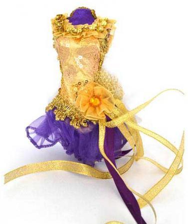Украшение декоративное, ПАЧКА, фиолетовая, 15 см, пластик, полиэстр, 1 шт в пакете украшение декоративное туфелька фиолетовый 13 см пластик полиэстр 1 шт в пакете