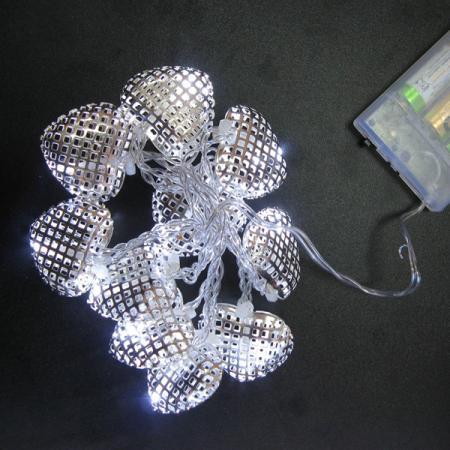Гирлянда LED СЕРДЕЧКИ на батарейках, 1 м, 10 ламп, для помещений гирлянда электрическая led звезды на батарейках 90 см 10 ламп