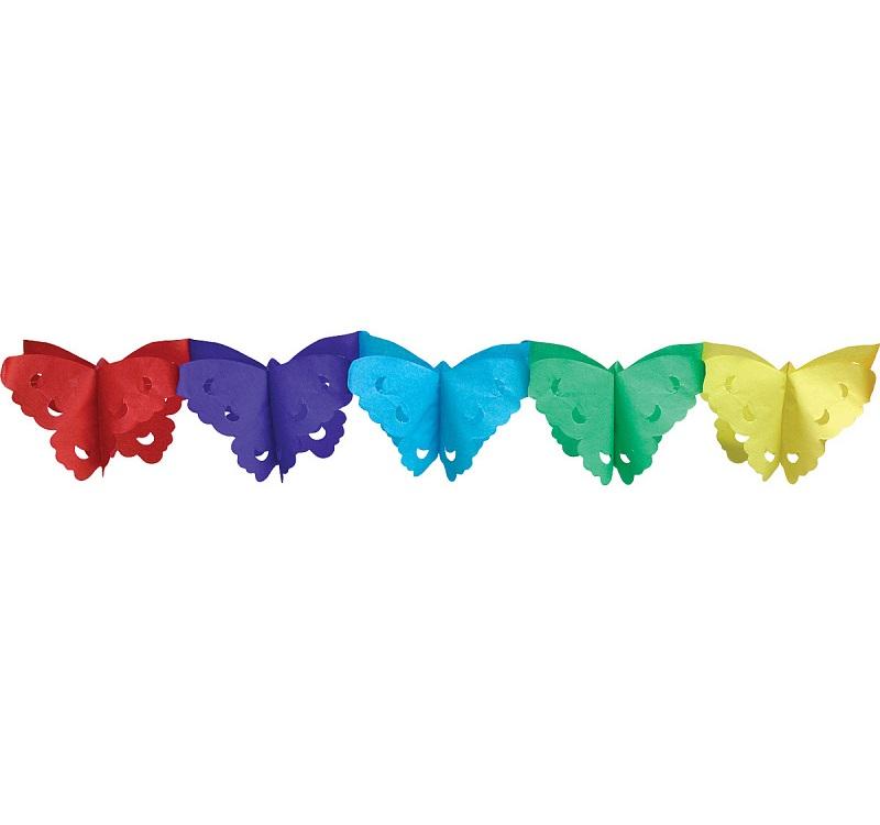 Гирлянда праздничная бабочки, 4 метра