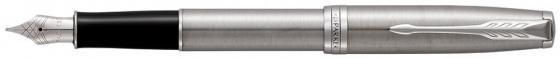 Перьевая ручка Parker Sonnet Core F526 Stainless Steel CT черный F 1931509 ручка перьевая parker sonnet f531 s0912390 dark grey laquer ct f перо золото 18k подар кор