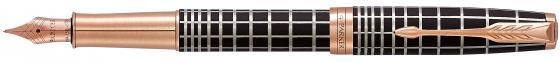 Перьевая ручка Parker Sonnet Premium F531 Masculine перо F 1931480 ручка перьевая parker sonnet f531 s0912390 dark grey laquer ct f перо золото 18k подар кор