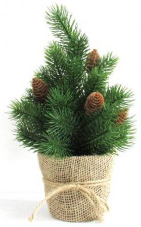 Ель Новогодняя сказка Декоративная елочка 30.5 см с шишками
