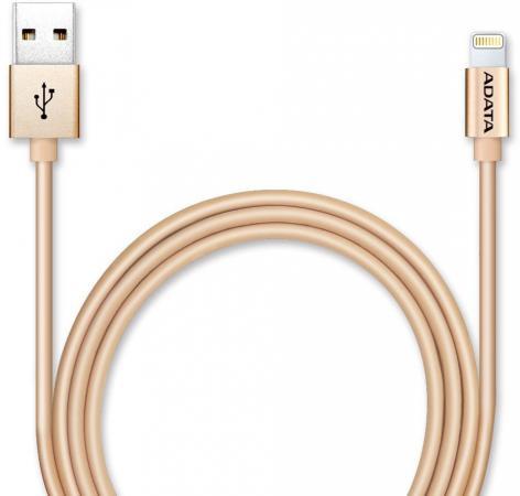 Кабель A-Data Lightning-USB для iPhone iPad iPod 1м золотистый AMFIAL-100CMK-CGD кабель mophie pro cable usb a to lightning