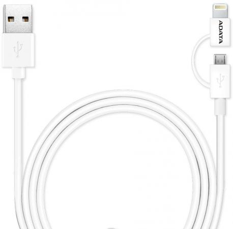 Кабель A-Data Lightning/microUSB 1м белый AMFI2IN1-100CM-CWH трусы 3 шт gant трусы 3 шт