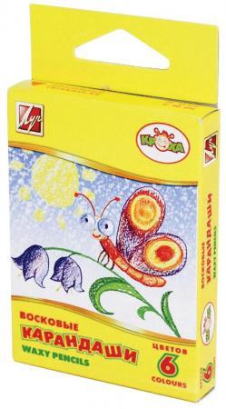 Масляные карандаши ЛУЧ КРОХА 6 штук 6 цветов от 3 лет масляные карандаши action fancy 12 штук 12 цветов от 3 лет fop200 12