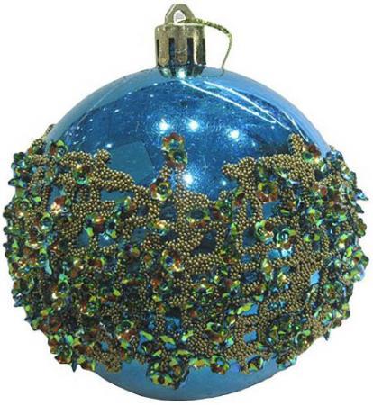 Набор шаров Новогодняя сказка 972920 8 см 3 шт голубой пластик