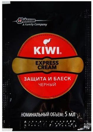 KIWI Express Крем для обуви Защита и блеск черный 5мл