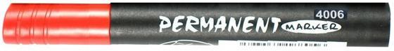 Маркер перманентный KIN, клиновидный наконечник, красный, 1-5 мм koh i noor маркер для доски цвет красный