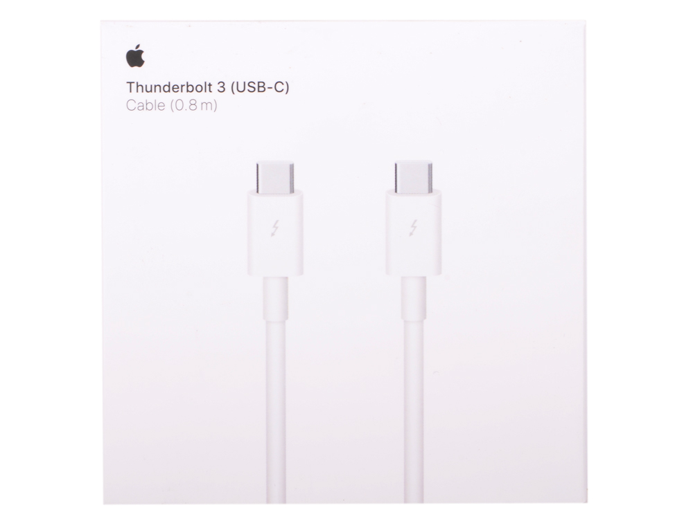 Кабель Apple Thunderbolt 3 (USB-C) 0.8м MQ4H2ZM/A аксессуар адаптер apple thunderbolt 3 usb c to thunderbolt 2 adapter mmel2zm a