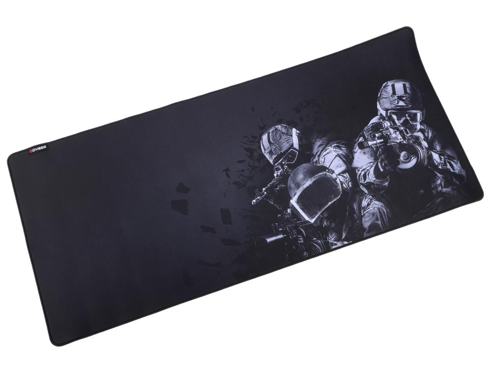 Коврик для мыши QCYBER K.G.B. игровая поверхность, размер 900х400 тонкое плетение, основа: натуральный каучук, оверлок коврик для мыши qcyber spec 430x360x4 мм поверхность тонкое плетение основа натуральный каучук оверлок