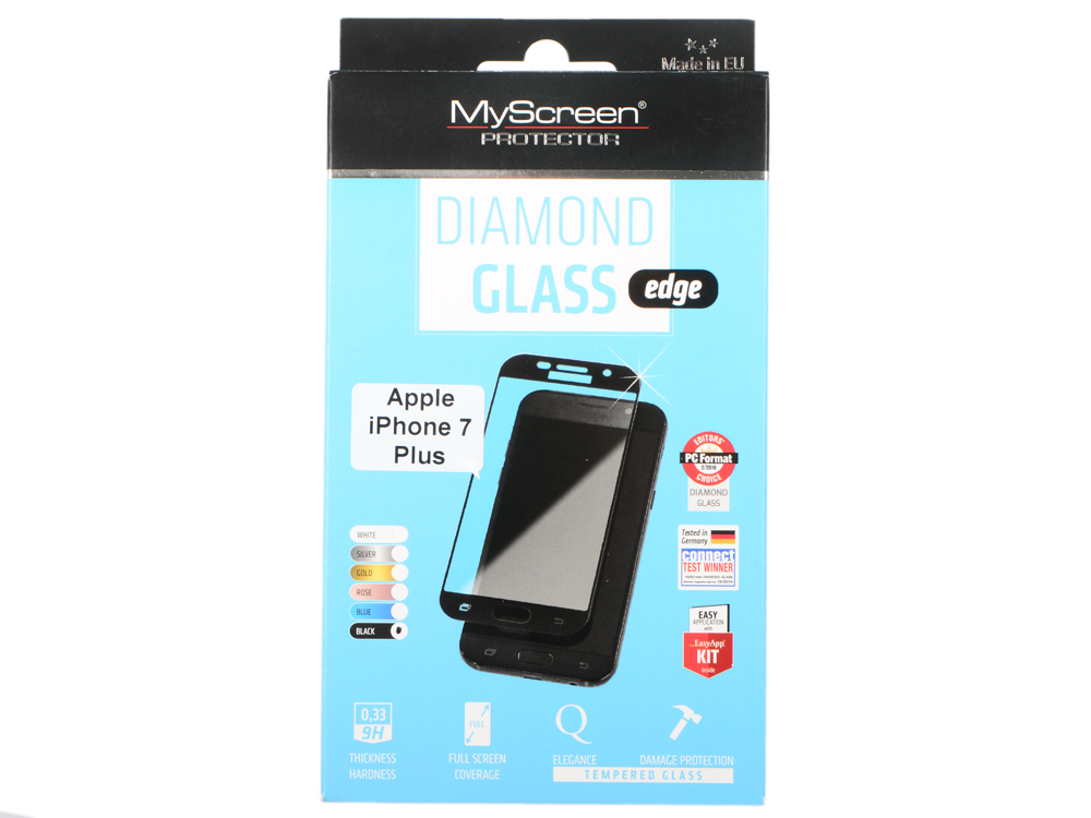Защитное стекло Lamel 2,5D MyScreen LITE Glass edge Black для iPhone 7 Plus MD2827TG FCOV BLACK защитное стекло lamel 2 5d myscreen lite glass edge white для iphone 6 6s md2081tg fcov white