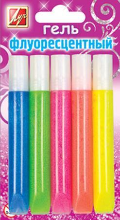 Гель с блестками флуоресцентный, 5 цв. , туба ,10 мл репаркол гель коллаген 7% 5 мл туба