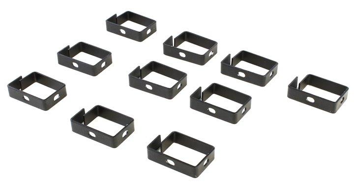 Кабельный органайзер - скоба, 63х39х15 , чёрный (уп. 10шт), NT CO 63/39/15 B кабельный органайзер 19 чёрный горизонтальный 1u nt co h b