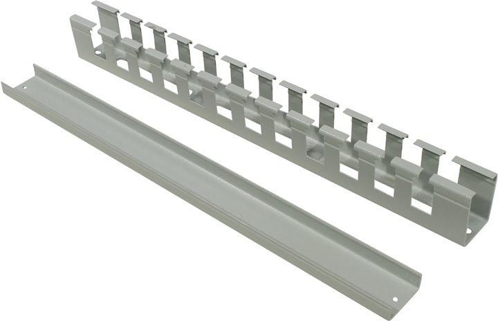 Кабельный органайзер 19, серый горизонтальный 1U, с отверстиями, с крышкой, NT CO-HО.СМ G кабельный органайзер 19 чёрный горизонтальный 1u nt co h b