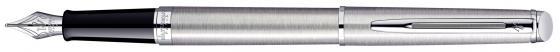 Перьевая ручка Waterman Stainless Steel CT синий F WAT-S0920410 1 25 sanitary stainless steel ss304 y type filter strainer f beer dairy pharmaceutical beverag chemical industry