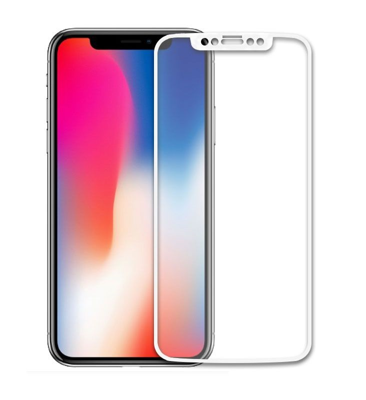 Защитное стекло LuxCase для Apple iPhone X Стекло 25D FULL Screen Белая Рамка