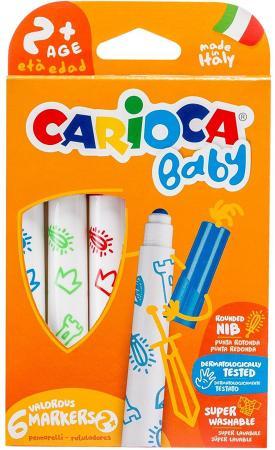 Набор фломастеров CARIOCA Baby 6 шт 42813 carioca набор смываемых фломастеров baby jimbo 6 цветов