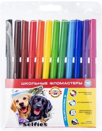 Набор фломастеров Koh-i-Noor Selfies 2 мм 12 шт 1002/12 S TE набор фломастеров koh i noor домашние животные 2 мм 24 шт разноцветный 1002 24 te 1002 24 te