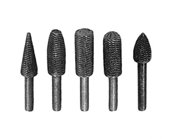 Шарошка FIT 36475 металлические для фигурных отверстий по металлу 5шт.