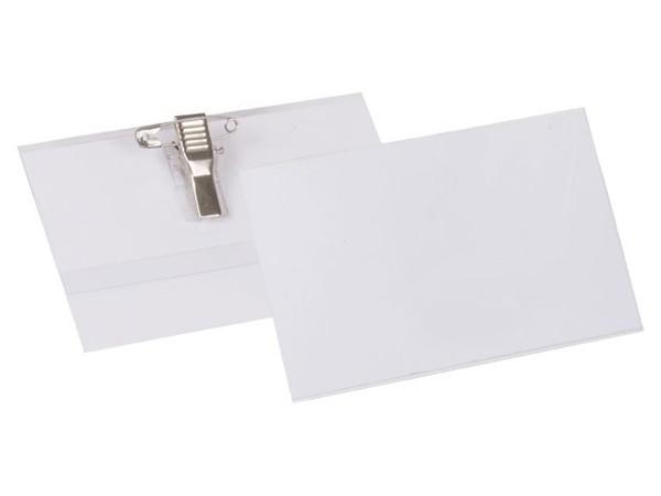 Бейдж самоламинирующийся вертикально/горизонтальный с металлическим клипом, 54х90 мм, цена за 1 шт. бейдж горизонтальный 54х90 мм с булавкой цвет прозрачный цена за 1 шт в блистере
