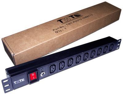 Блок розеток 19 9 шт. C13, 10A 250V, без шнура питания TWT-PDU19-10A9C3 irf740 irf740pbf 400v 10a to220
