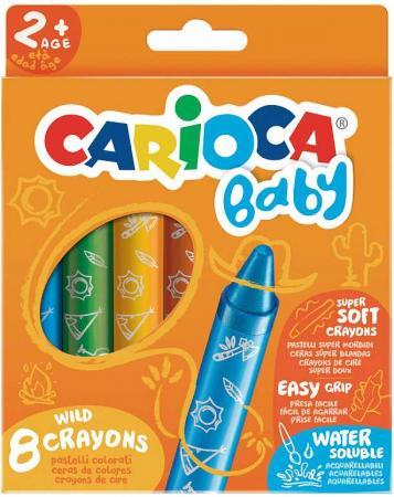 Набор смываемых восковых карандашей СARIOCA BABY, 8 цветов , уп. с европод. пифагор набор карандашей восковых 24 цвета