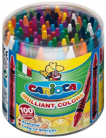 Набор восковых мелков CARIOCA WAX CRAYONS, пластиковый бокс, 100 шт набор восковых мелков 12 цветов wax crayons 42365