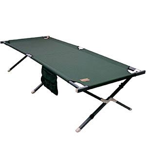 цена на Кровать раскладная Camping World Forest Bed Big (чехол, боковые карманы, допустимая нагрузка 200кг, размер 210х80х47см, вес 7.7 кг, цвет зелёный)
