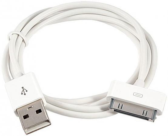 Кабель 30 pin 1м Perfeo I4601 круглый белый кабель lightning 1м wiiix круглый cb120 u8 10b