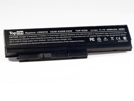 Аккумуляторная батарея TopON TOP-X220 4400мАч для ноутбуков IBM Lenovo ThinkPad X220 X220i X220s X23 аккумуляторная батарея lenovo thinkpad battery 68 6cell для ноутбуков lenovo x240 t440 t440s 0c52862