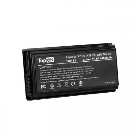 Фото - Аккумуляторная батарея TopON TOP-F5 6600мАч для ноутбуков Asus F5M F5N F5Sr F5Z F5RI F5SL F5VI F5VL аккумуляторная батарея topon top r519h 6600мач для ноутбуков samsung r425 r428 r430 r468 r470 r478 r480 r505 r507 r510 r517 r519 r522 r528 r730 rv410 rv440 rv510 rf511 rf711