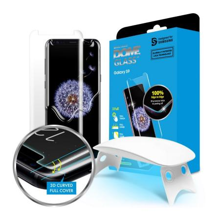 Защитное стекло для экрана Samsung Whitestone Dome для Samsung Galaxy S9 прозрачная 1шт. (GP-G960WTE защитная плёнка для samsung galaxy s9 sm g960 прозрачная samsung et fg960ctegru
